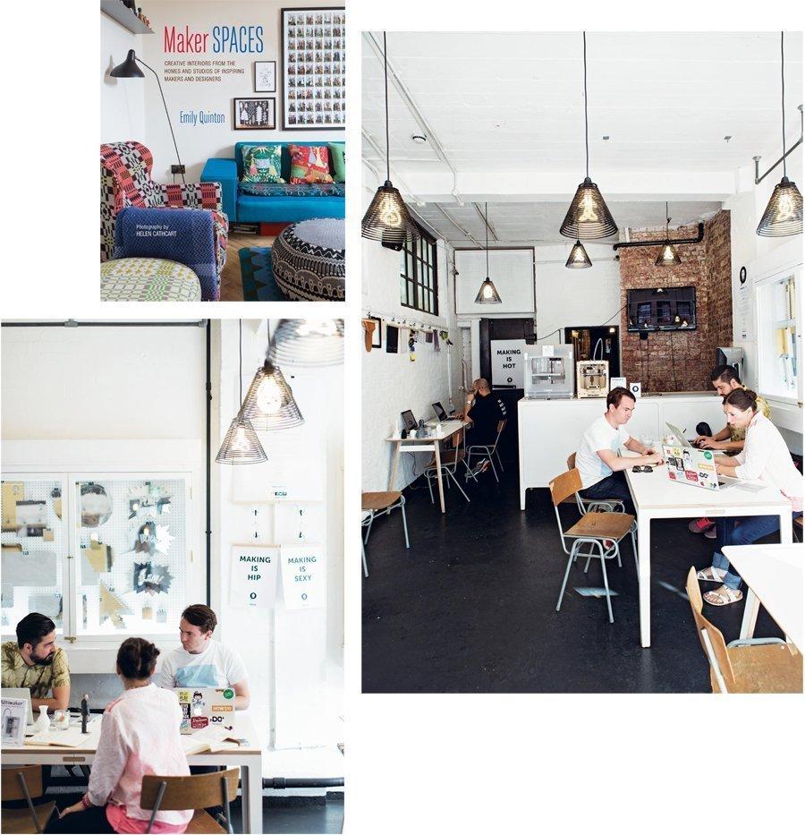 thuiswerkplek voor creatieven
