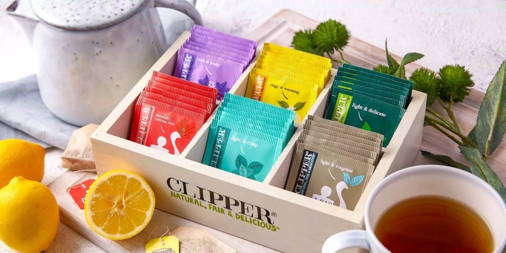 assortiment biologische thee van Clipper