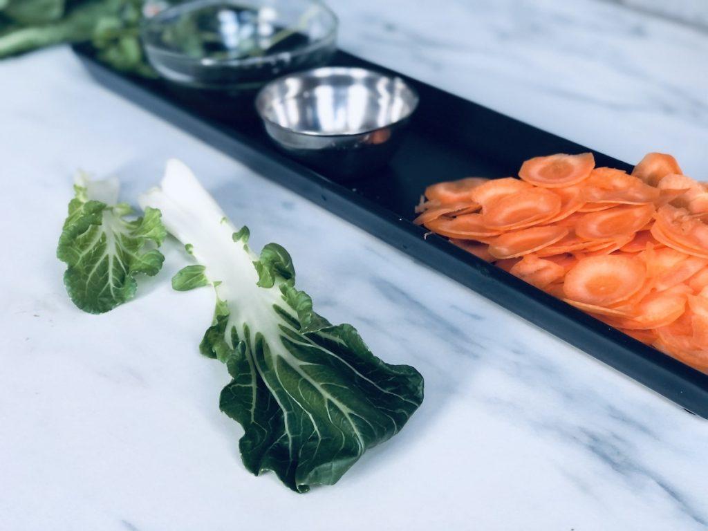 ingredienten voor een vegan salade