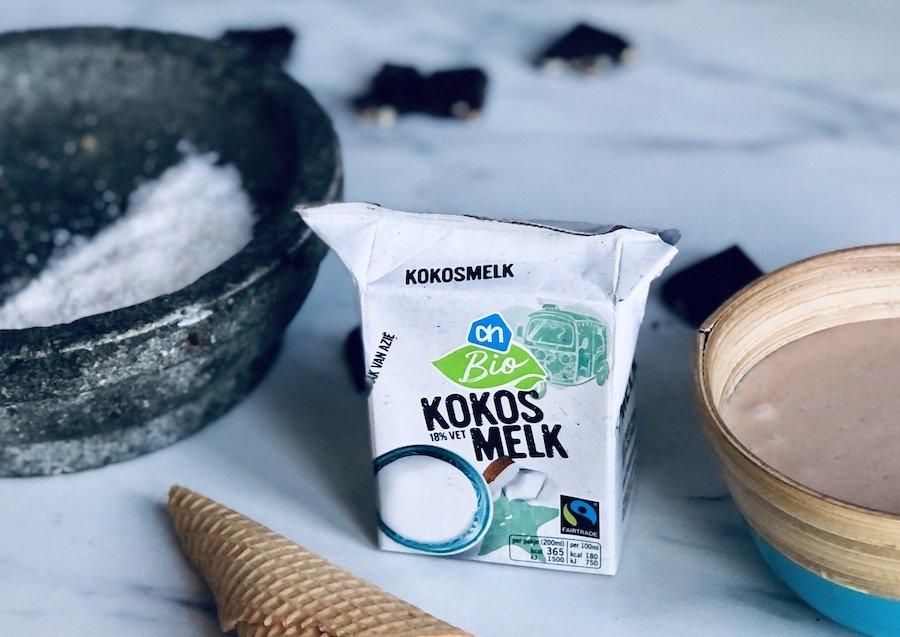 vegan ijs met kokosmelk