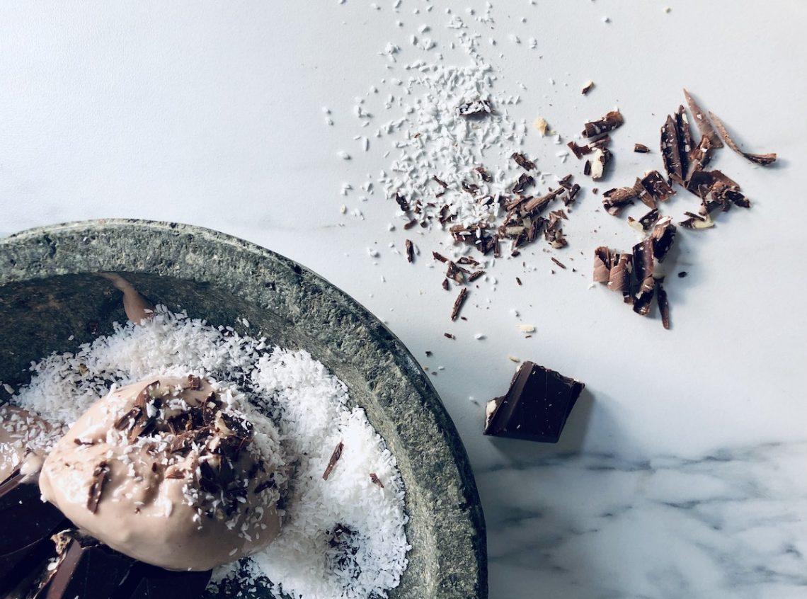 vegan recept bananenijs met Fairtrade chocolade