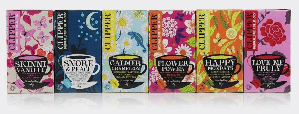 verschillende theesoorten van clipper