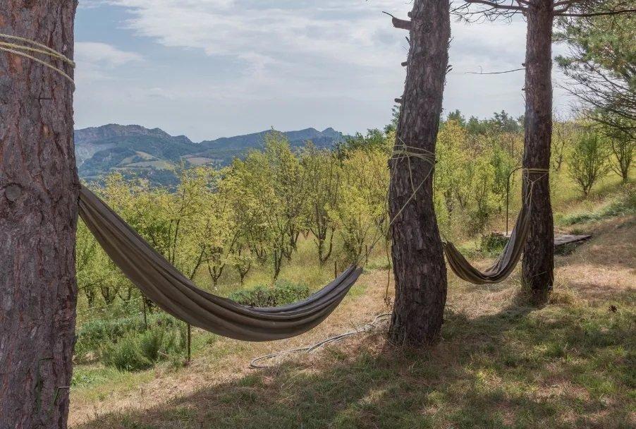 ontspannen na de yogalessen in Italie