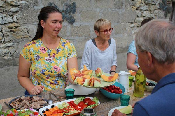 eerlijke voeding uit eigen tuin tijdens een retreat